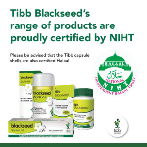 Tibb Blackseed's range of products are proudly certified by NIHT